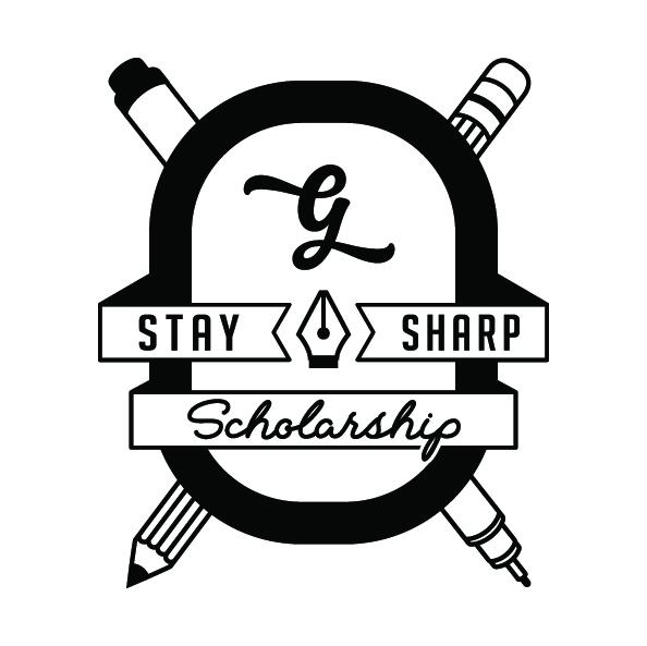 Stay Sharp Scholarship Logo Goodtype - Lettering Tutorial