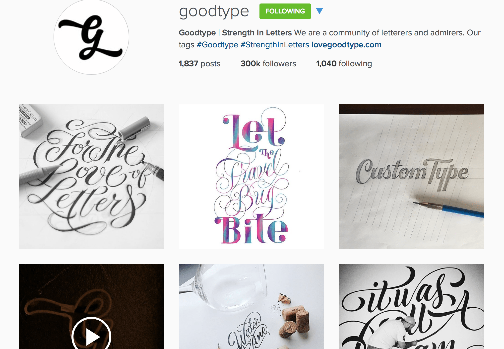 Goodtype Instagram - Lettering Tutorial