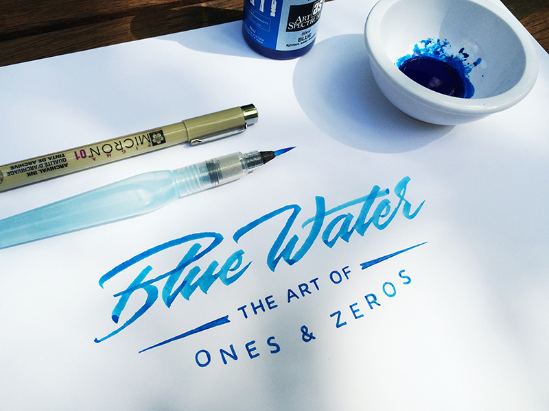 Matt Vergotis Blue Water - Lettering Tutorial