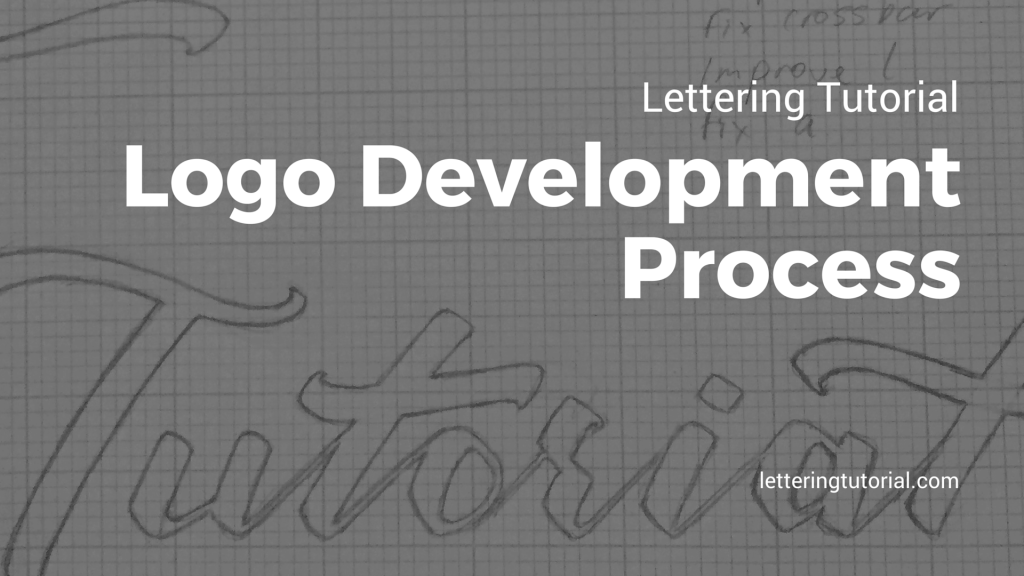 Lettering Tutorial Logo Development Process