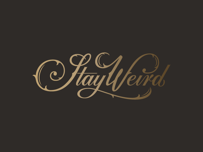 Stay Weird Colin Tierney - Lettering Tutorial