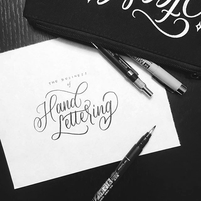 Modern Thrive The Business Of Hand Lettering - Lettering Tutorial