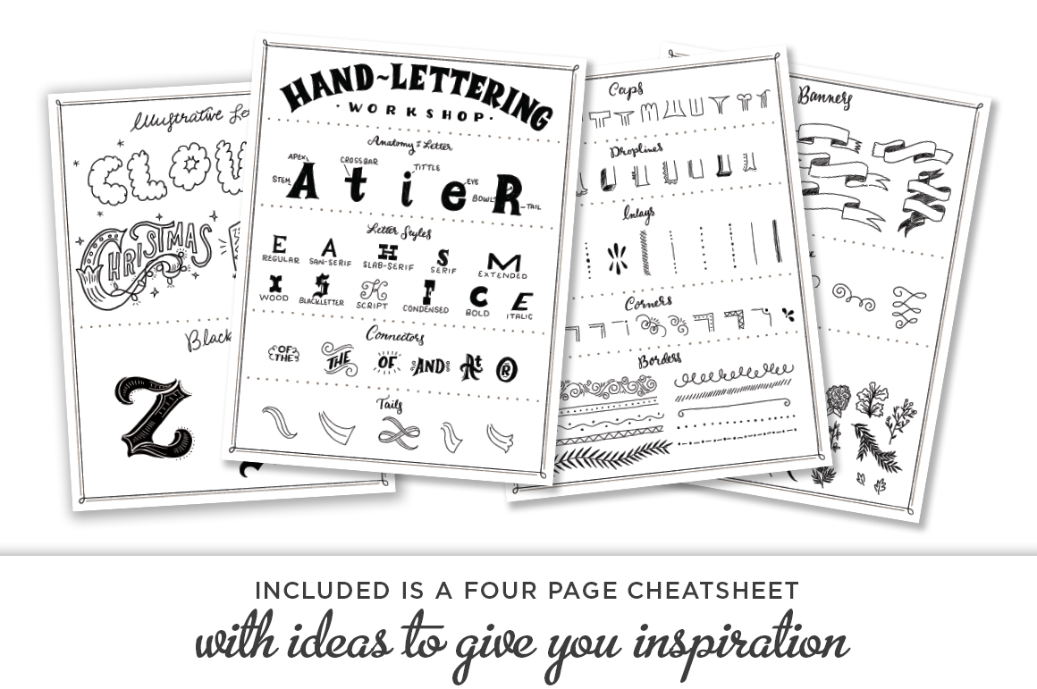 Cheatsheet Shauna Lynn RetroSupply Co - Lettering Tutorial