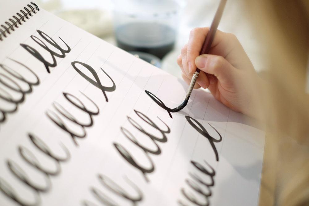 Learn Brush Lettering Carla Hackett Barbara Enright - Lettering Tutorial
