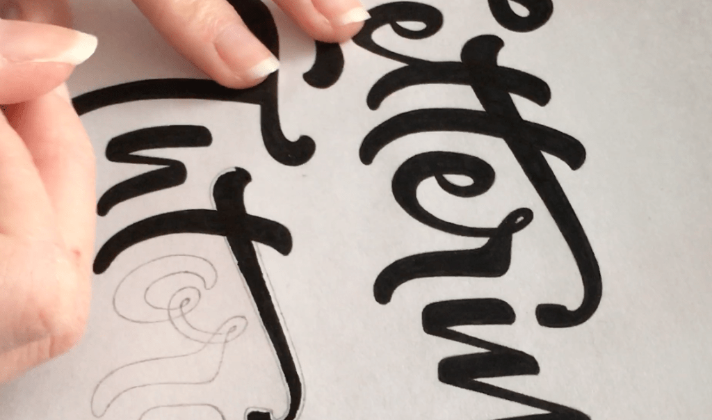 Negative Space - Lettering Tutorial