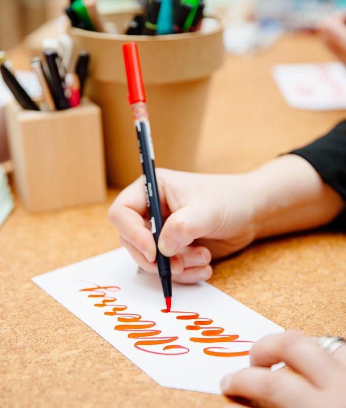The Letterettes Brush Lettering - Lettering Tutorial