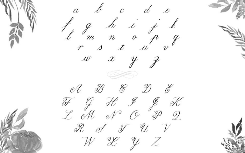 image regarding Copperplate Calligraphy Alphabet Printable referred to as Find out Calligraphy upon the iPad - A Thorough Expert in direction of