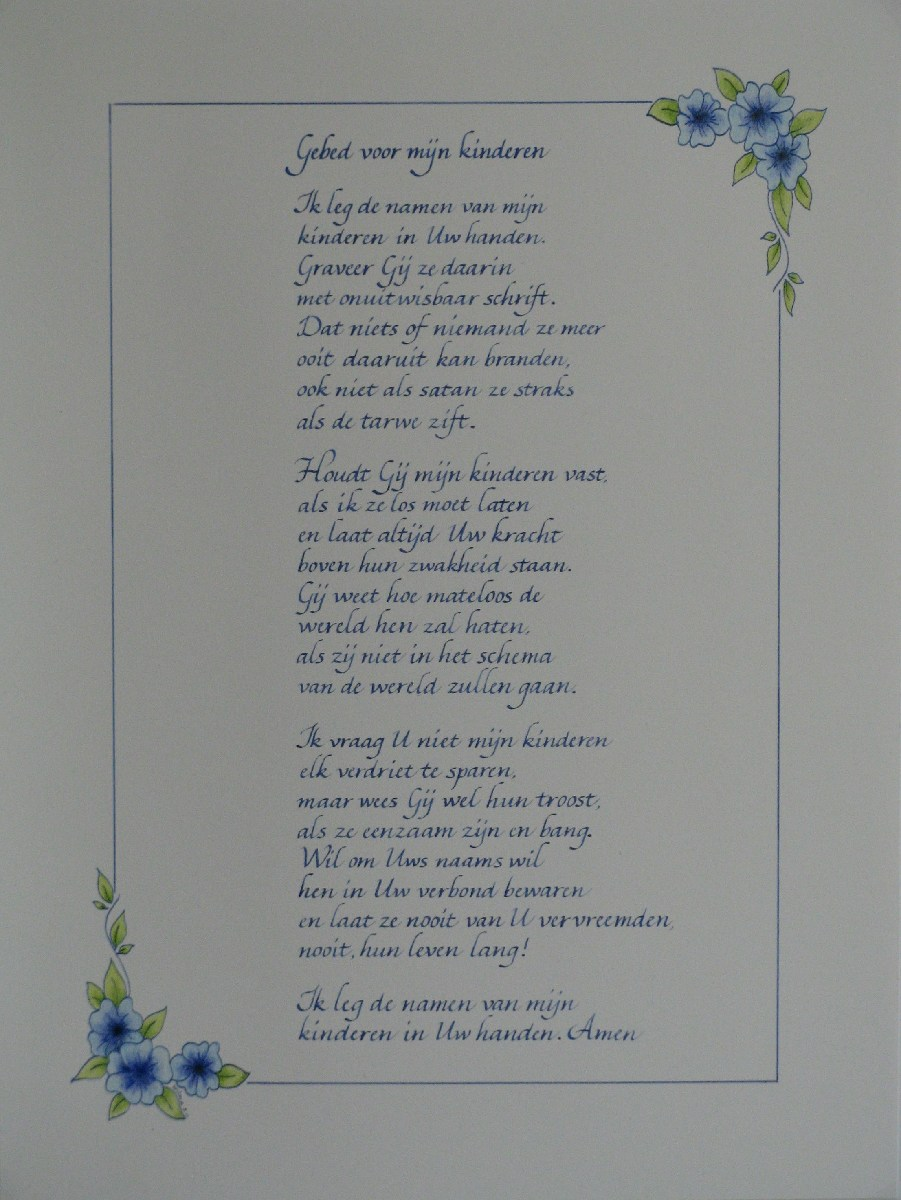 Gebed Voor Mijn Kinderen Letterkunst Letterkunst