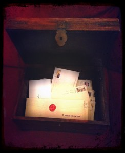 Letters inside wooden box - credit Ruth Feiertag