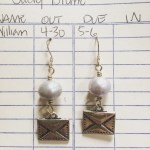 postal earrings