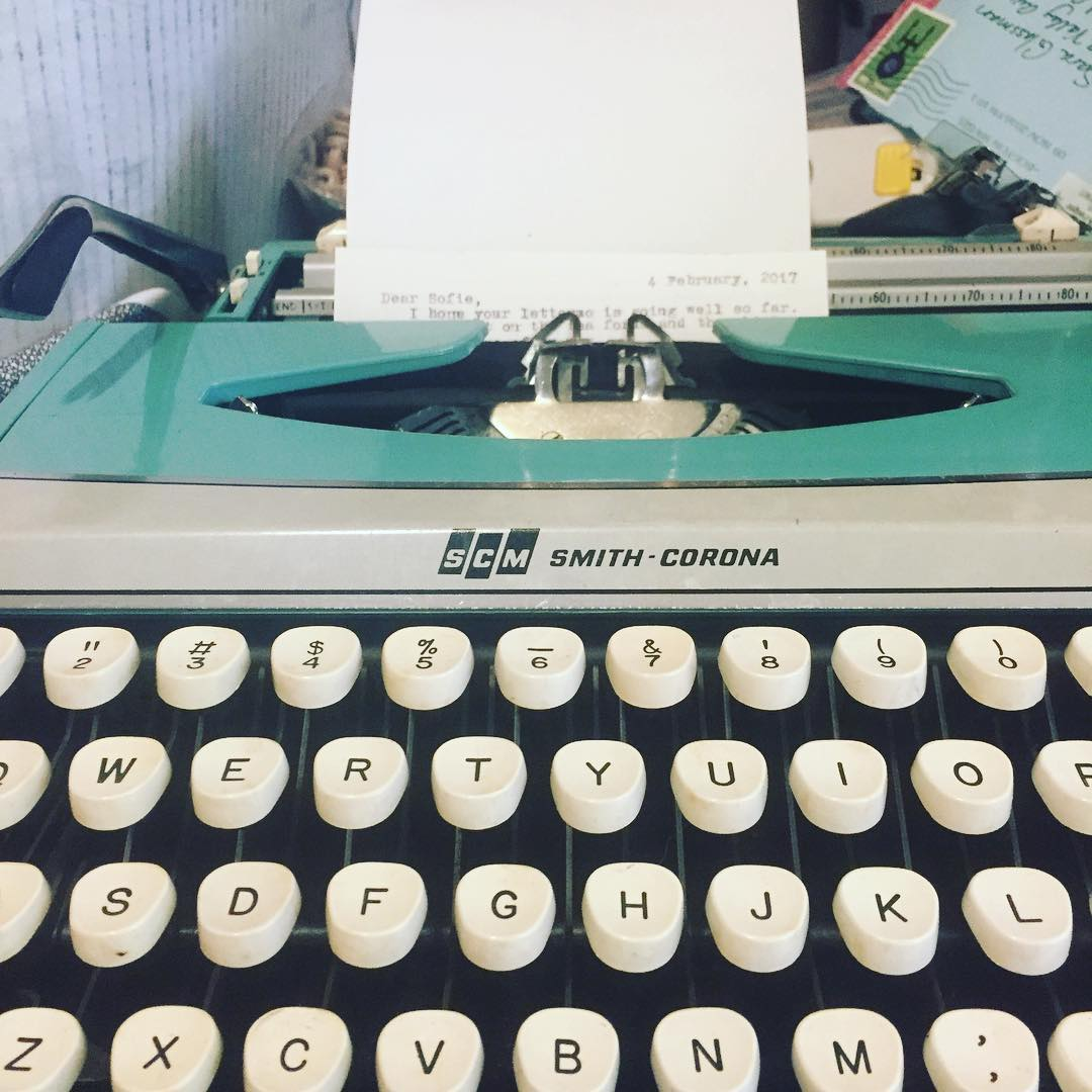 image of typewriter and letter by medusasjewelry on instagram