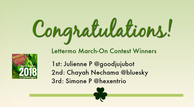 Lettermo Contest Winners