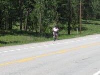 Joan gets a little pedalling in...