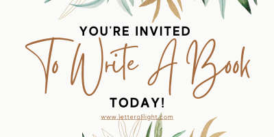 start writing your book today invitation