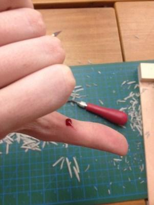 Some minor injury to my thumb - rookie mistake!