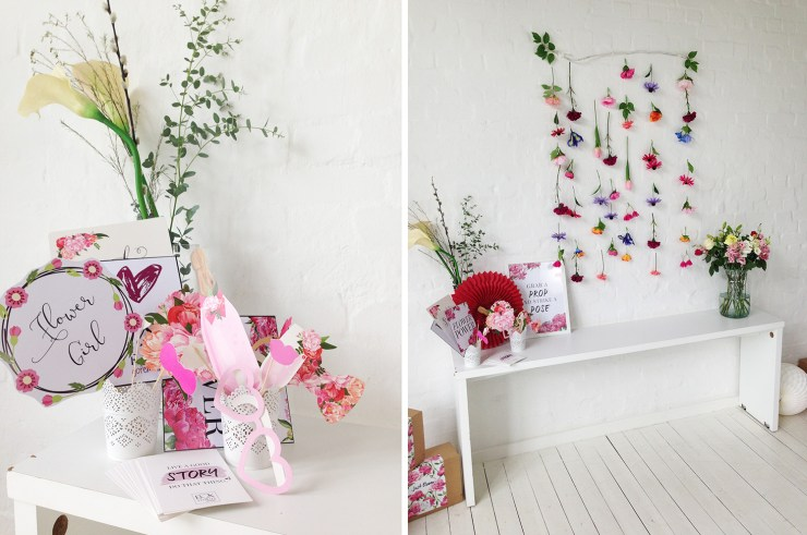 lettersbeads-beauty-box-stories-unboxing-just-bloom-box-fotoecke-blumen