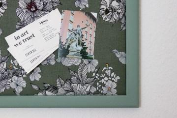 Letters and Beads DIY Blog-Pinnwand aus altem Bilderrahmen selber machen