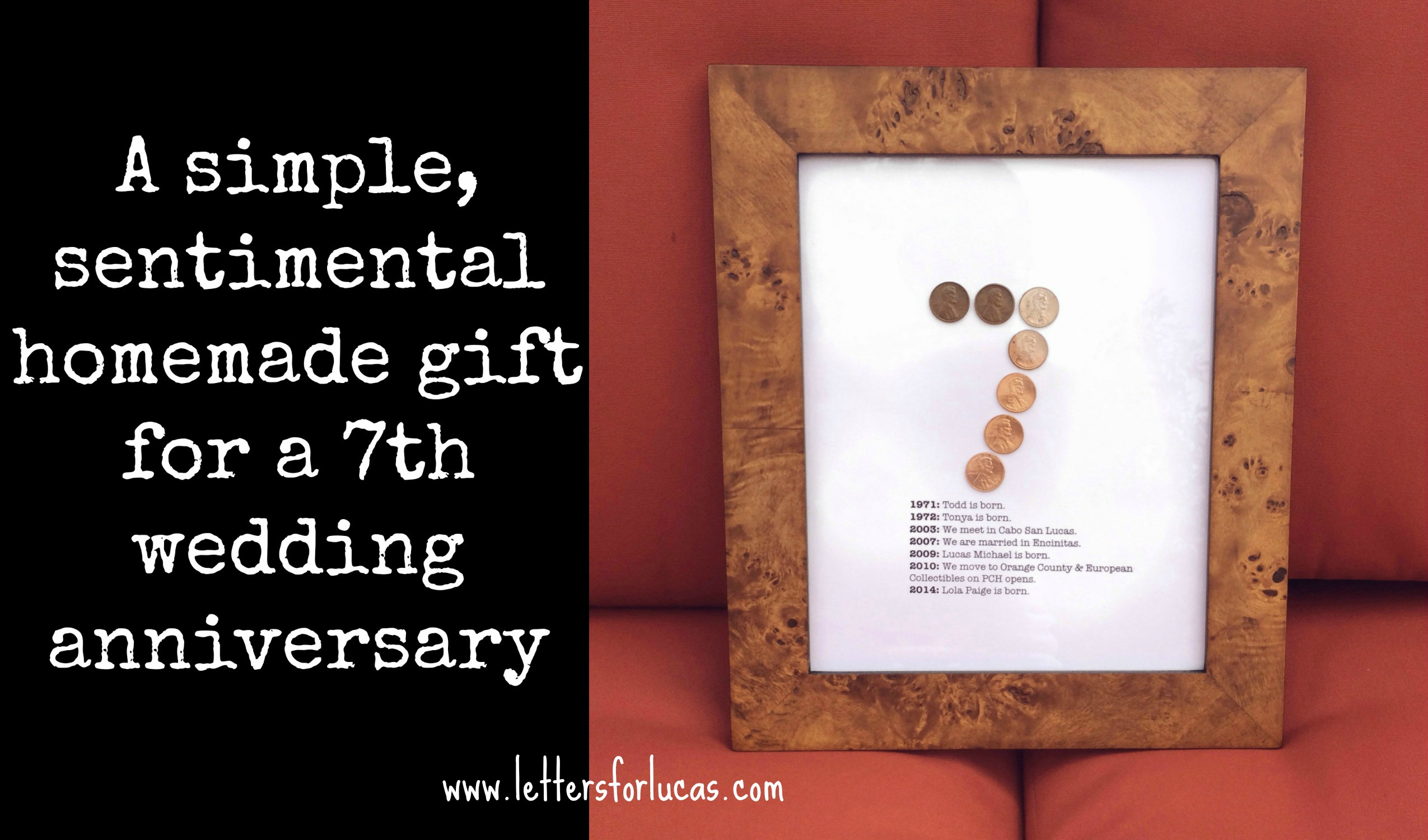 7 Years & Counting… A Great Gift Idea