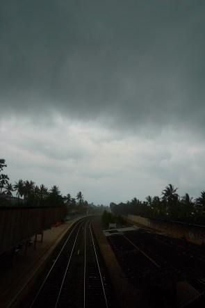 The train tracks in Mount Lavinia