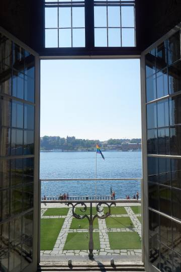 view from window city hall stockholm