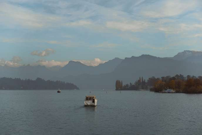 view from the water in Luzern