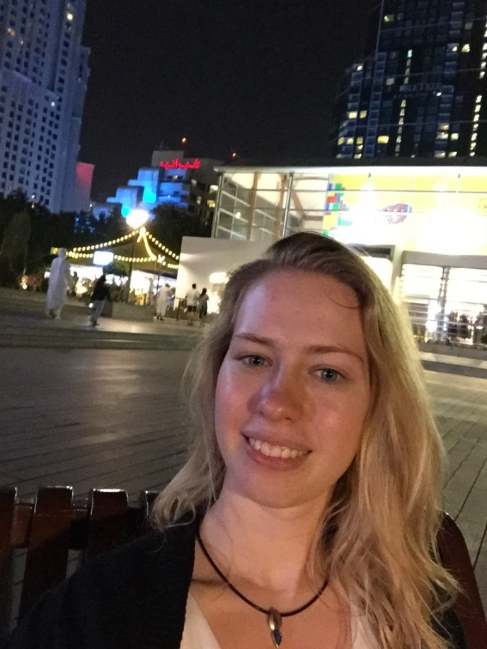 Me in Dubai at night