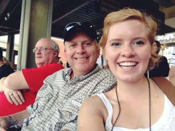 Knights Game with my daddyo!