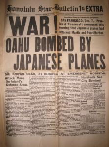Honolulu Star-Bulletin December 7th, 1941