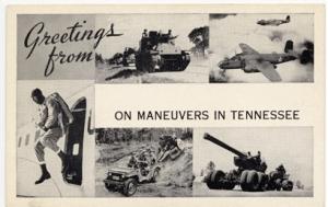 Tennessee Maneuvers Postcard