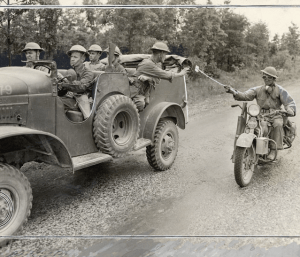 Dispatch rider gets through in Tennessee Maneuvers