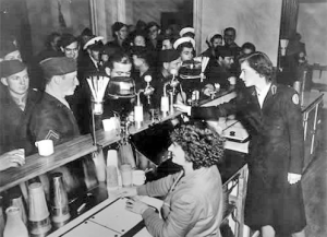 American Servicemen Ordering Sundaes In Wellington