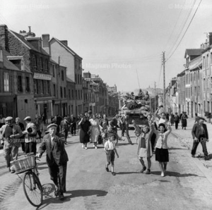 Granville, France residents welcoming American liberators