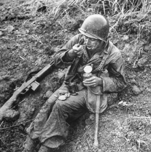 Eating Canned Rations On The Battlefield