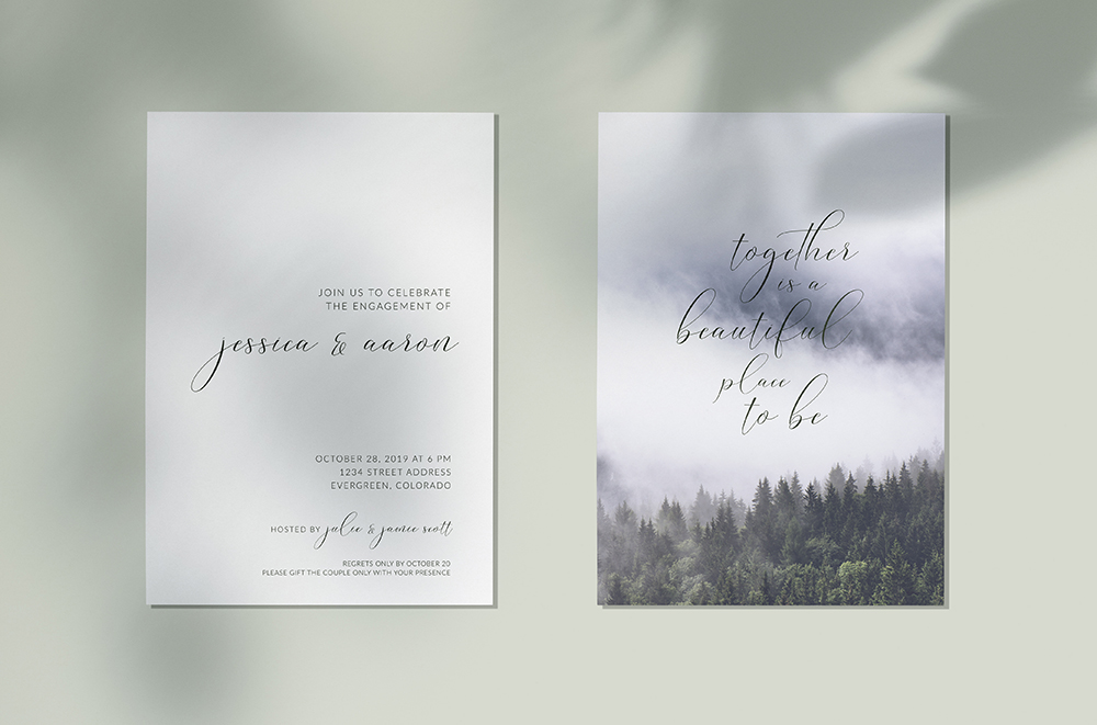 Colorado Mountain Engagement Party Invitation