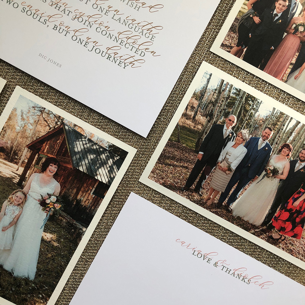 Custom wedding thank you cards with artifact uprising prints