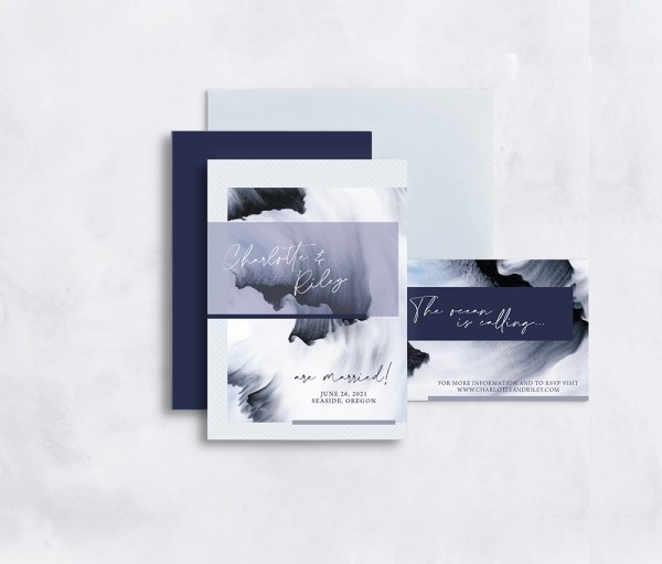 Romantic and etheral beach wedding invitation