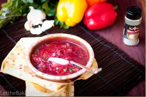 Red Beet Soup or Borsht is the most popular soup at our house.