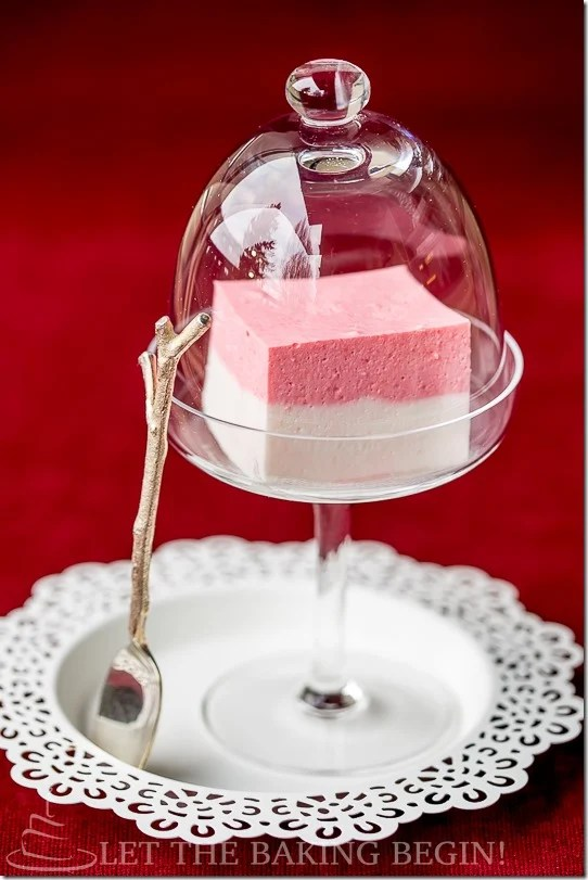 Strawberry Bird's Milk Jello, light, fluffy and not bland like all other white jello's this is a must! Done in 20 minutes or less .
