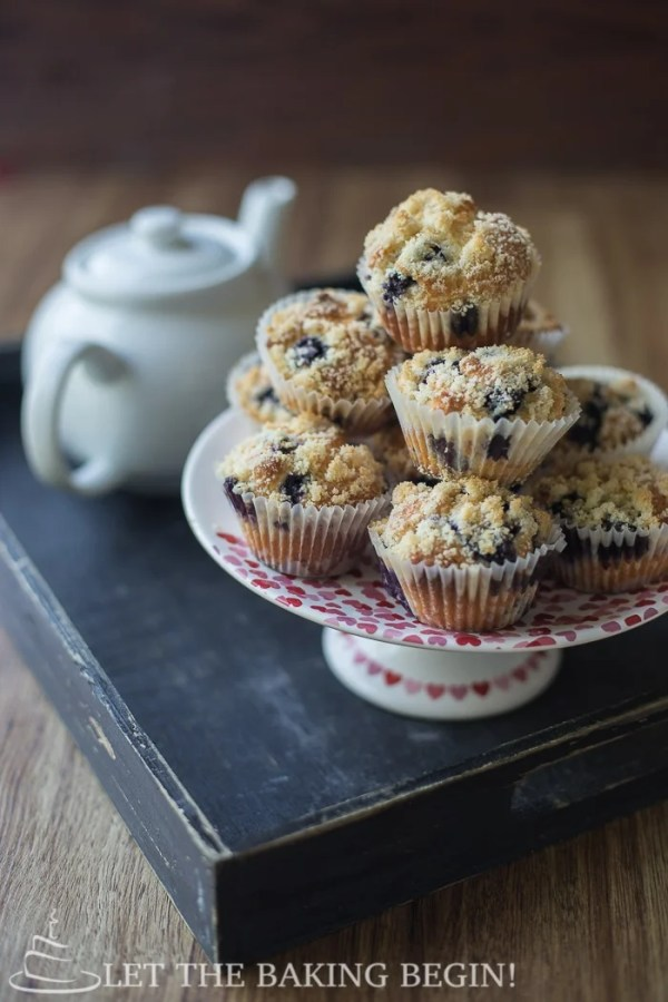These Blueberry Muffins are made with olive oil and Greek Yogurt in addition to the antioxidant-rich blueberries. If there's ever a muffin that you want to make, this is it!