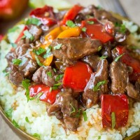 Spicy Slow Cooker Beef & Bell Pepper