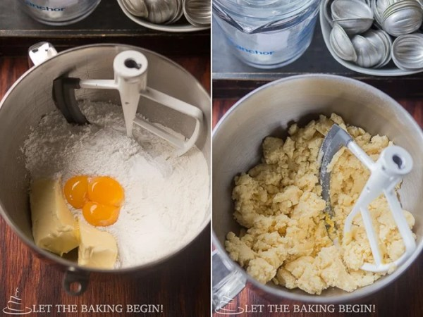 How to make the shortbread cookie batter.