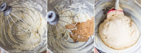 How to make caramel frosting by adding all ingredients in a mixing bowl.