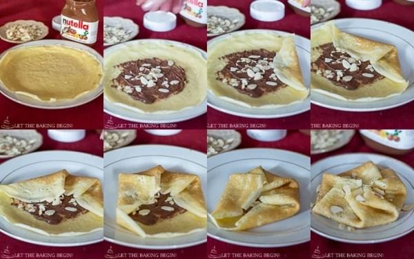 Nutella Stuffed Crepes & 3 Ways to Fold Them | By LetTheBakingBeginBlog.com | @Letthebakingbgn