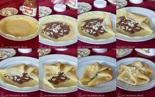 How to fold stuffed crepes using the hexagon overlapping folding method.