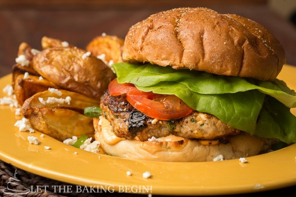 Chicken Feta Burger, homemade, delicious , and incredibly easy to make! by @Letthebakingbgn   LetTheBakingBeginBlog.com_-3
