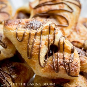 Nutella Puff Pastry Danish - 10 minutes of your time and you can be enjoying these ridiculously delicious danishes as well! Check out these step by step photo tutorial! @Letthebakingbgn | LetTheBakingBeginBlog.com