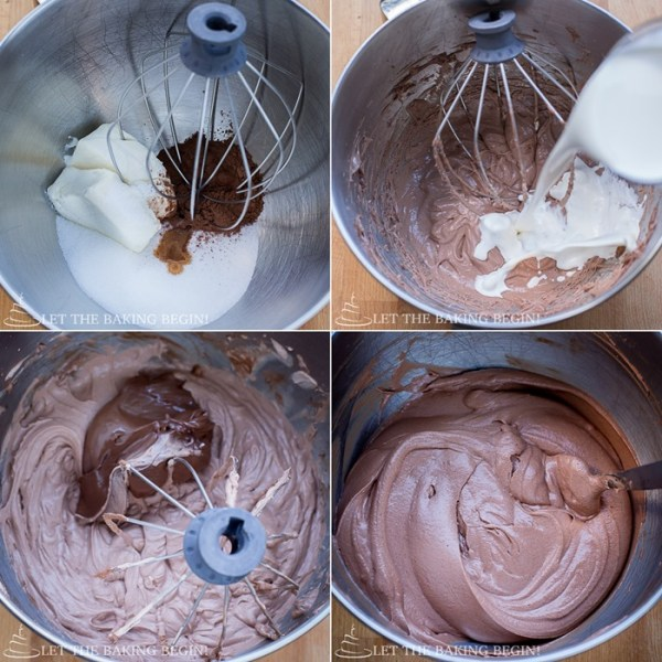 How to make nutella cream by adding all ingredients into a mixing bowl and mixing.