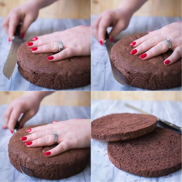 How to Split a Chocolate Sponge Cake