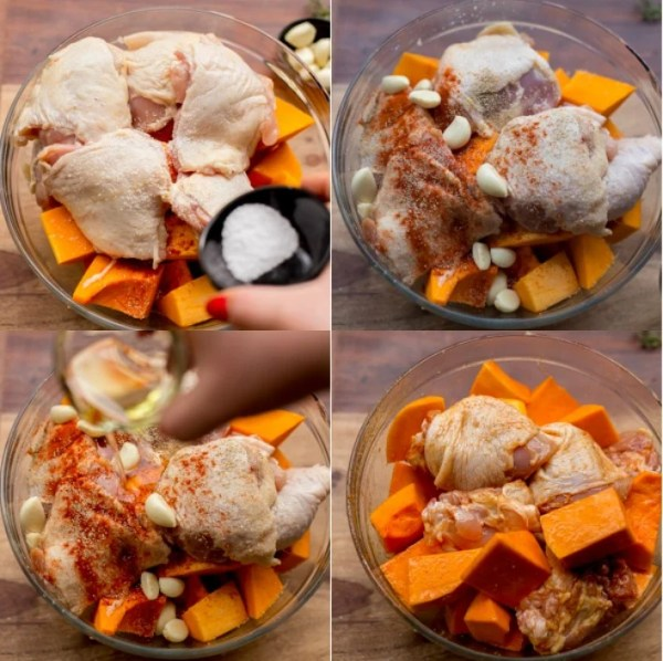 How to make this one pan chicken and squash recipe.