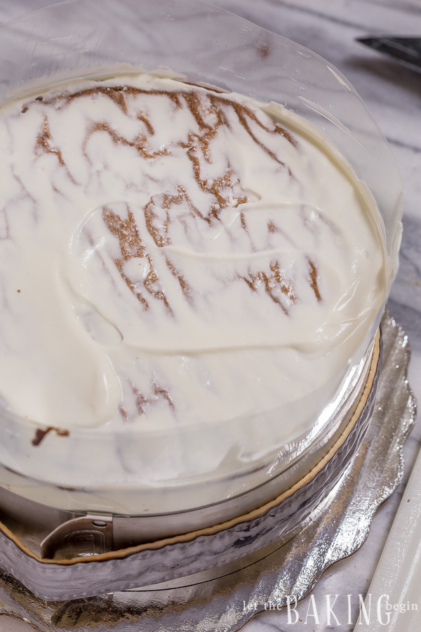 Chocolate Cake with Plums, Walnuts and Sour Cream Frosting | By Let the Baking Begin!